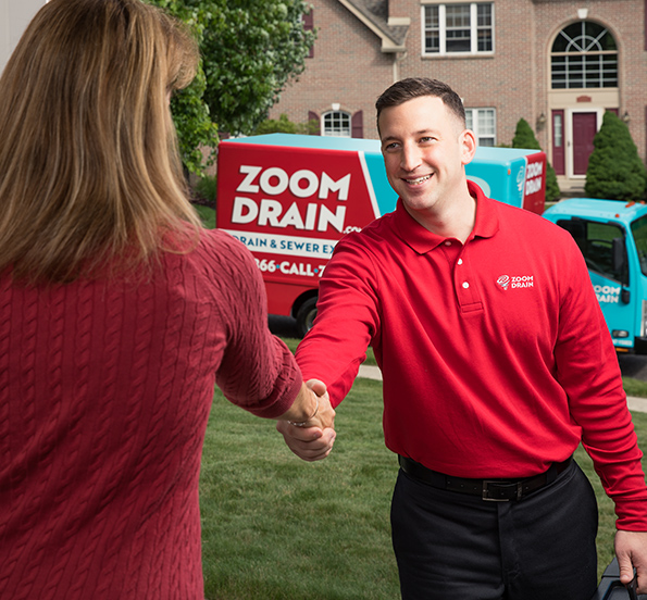 Zoom Drain Employee Shaking Hand With Client